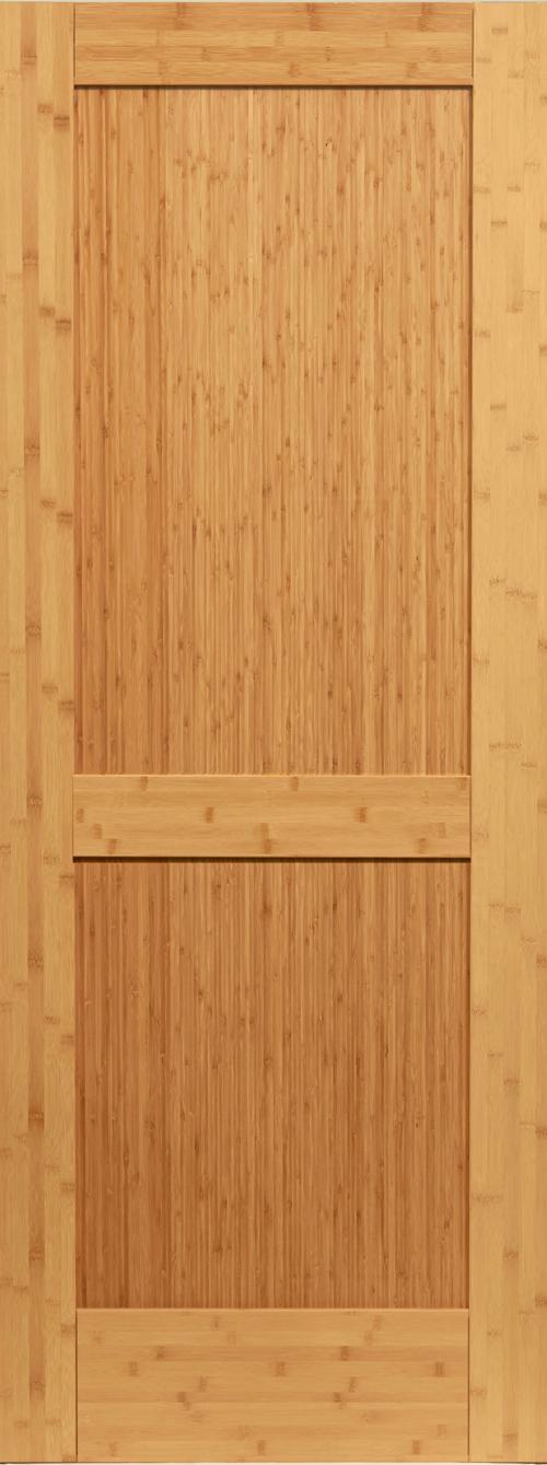 Bamboo 2 Panel Shaker Door