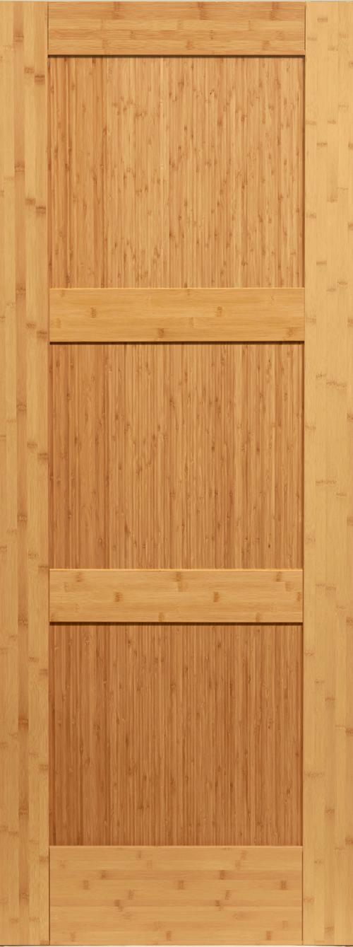 Bamboo 3 Panel Shaker Door