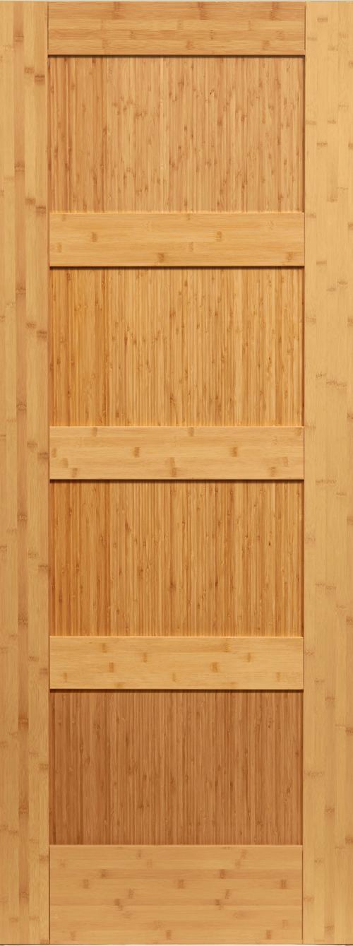 Bamboo 4 Panel Shaker Door