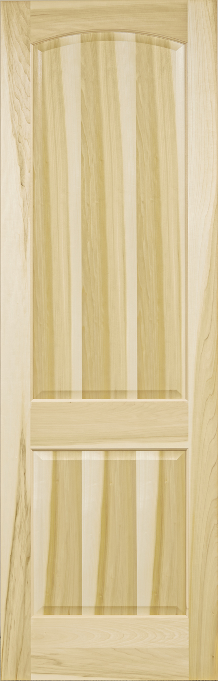Yellow Poplar Stain Grade 2 Panel Arch Door