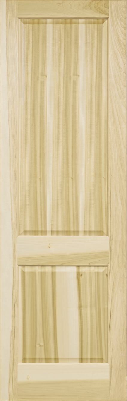 Yellow Poplar Stain Grade 2 Panel Square Door