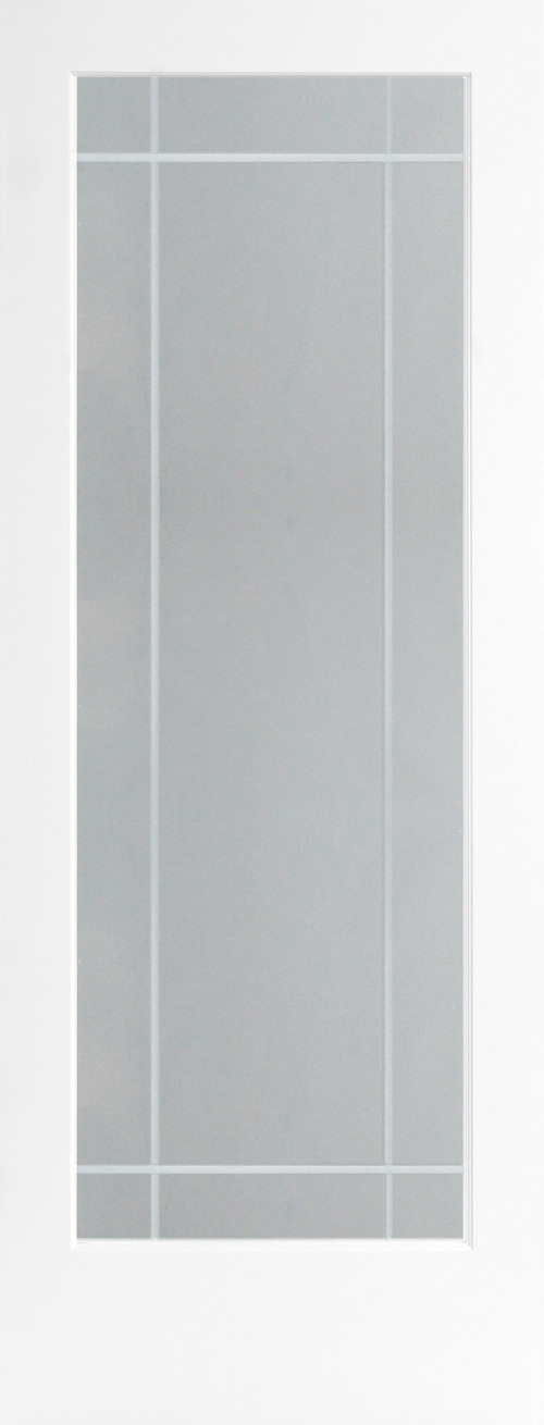 9-Lite V-Groove Decorative Glass Door