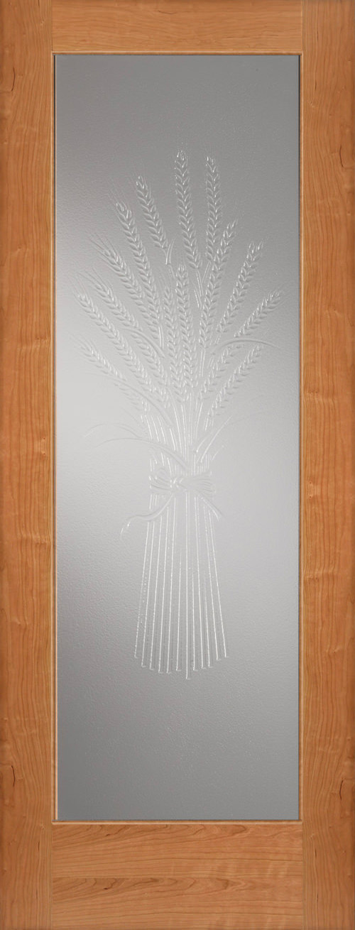 Wheat Design Decorative Glass Door