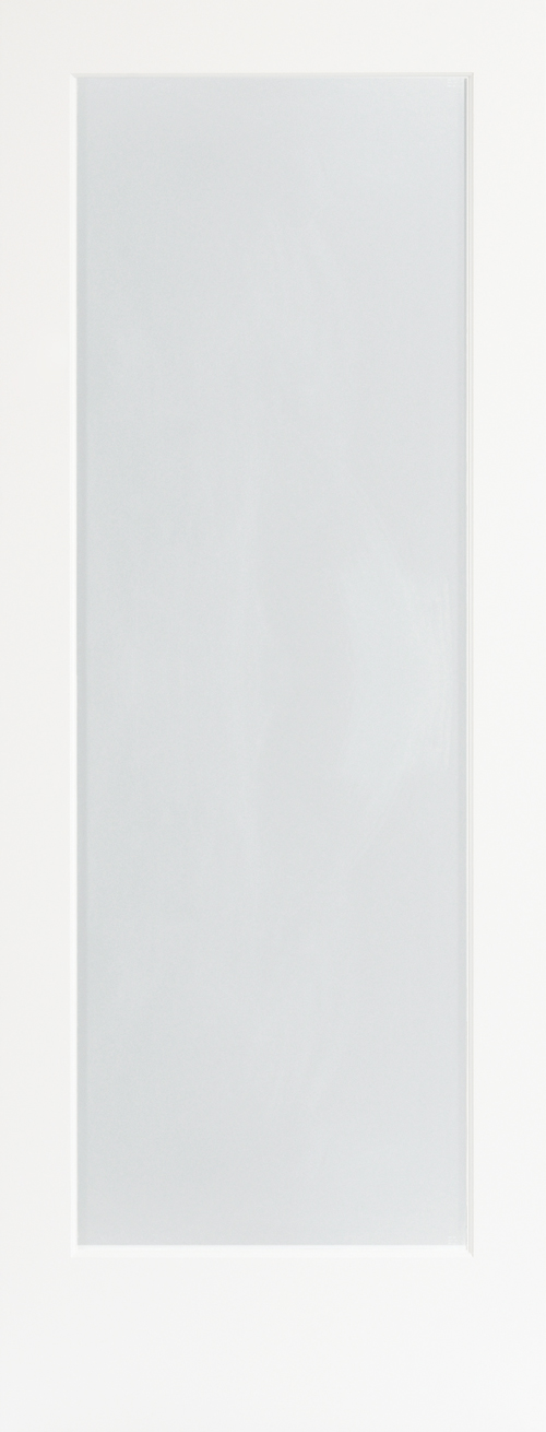 WHITE LAMINATED Decorative Glass Door