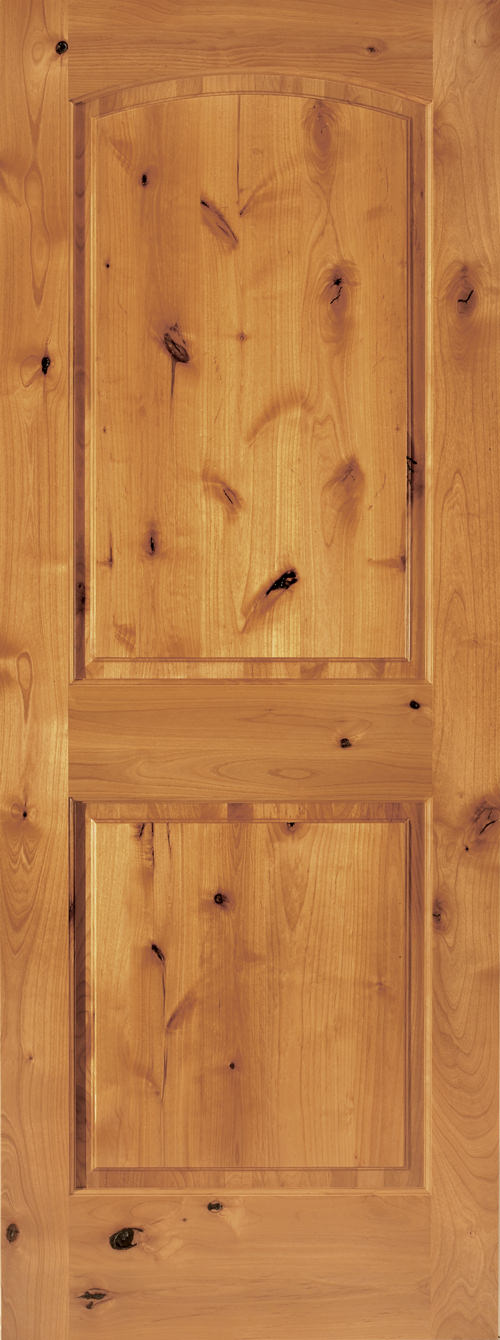 Knotty Alder 2 Panel Arch Door