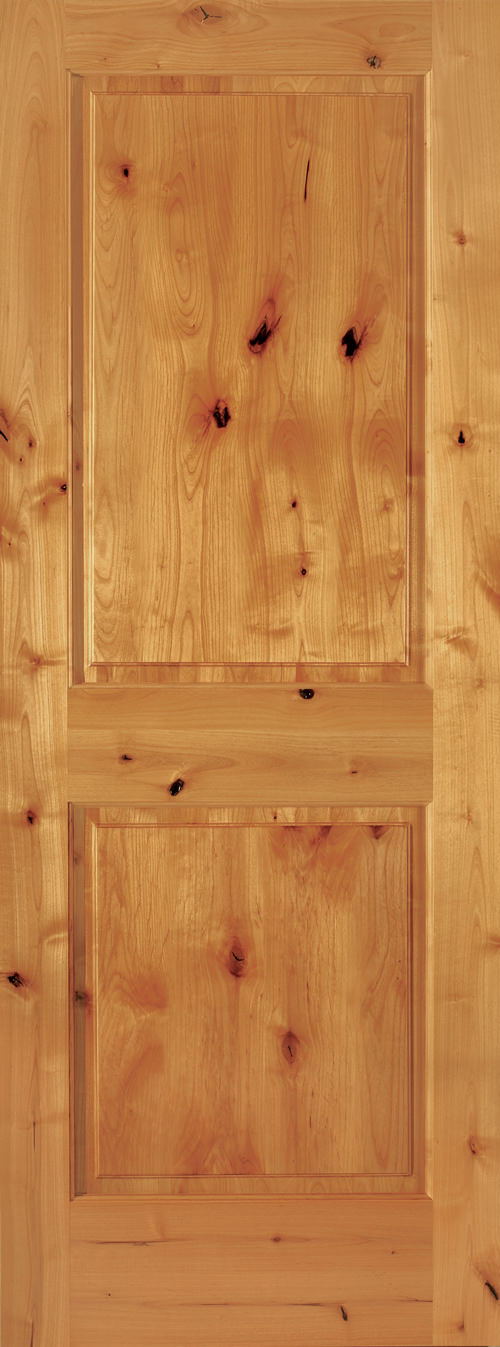 Knotty Alder 2 Panel Square Door