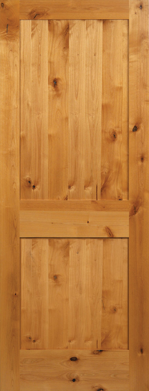 Knotty Alder 2 Panel Shaker Door & Knotty Alder Doors - Global Pointe