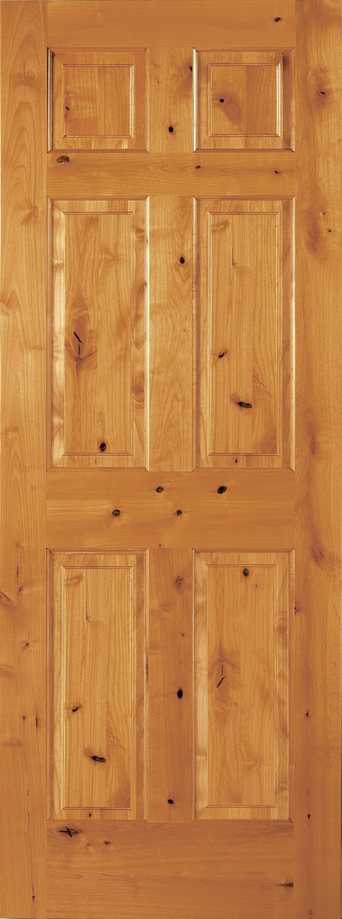 Knotty Alder 6 Panel Door