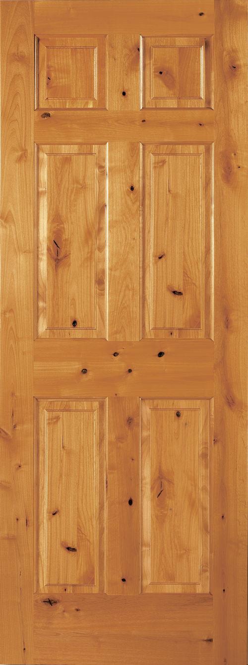knotty alder 6 panel door