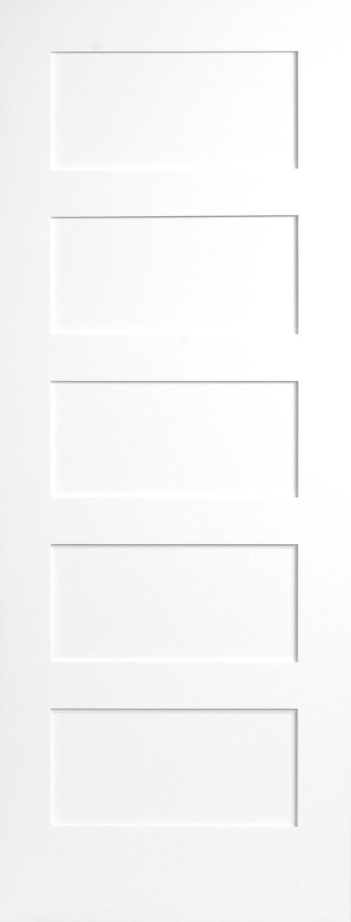 Primed 5 Panel Shaker Door