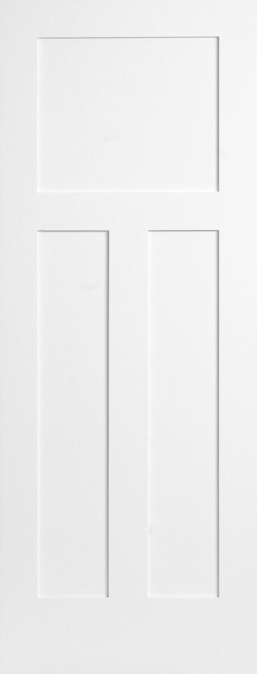 Primed 3 Panel Shaker Door