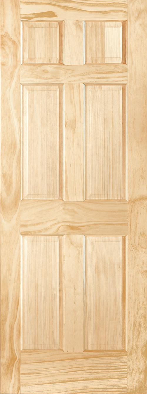 Radiata Pine 6 Panel Door