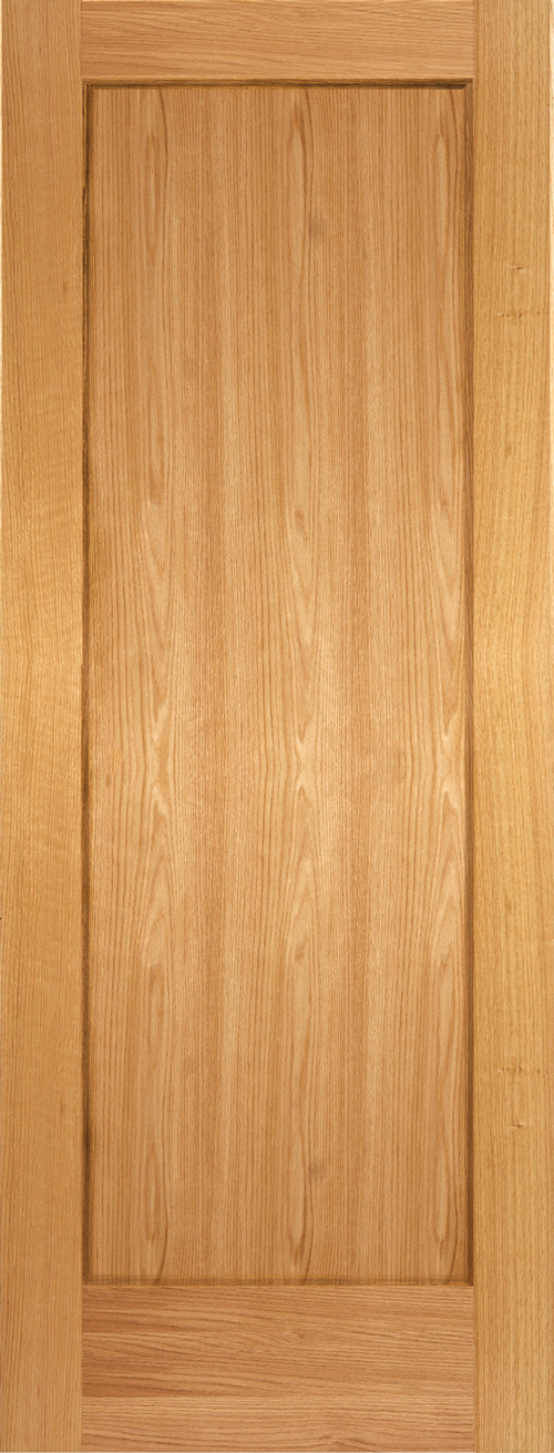 Red Oak 1 Panel Shaker Door