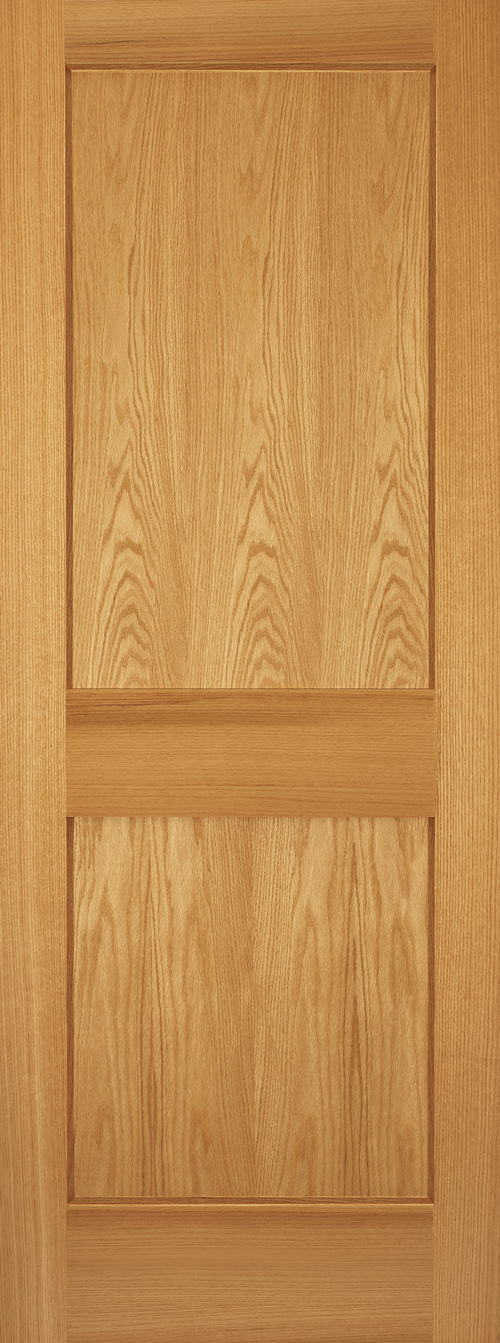 Red Oak 2 Panel Shaker Door