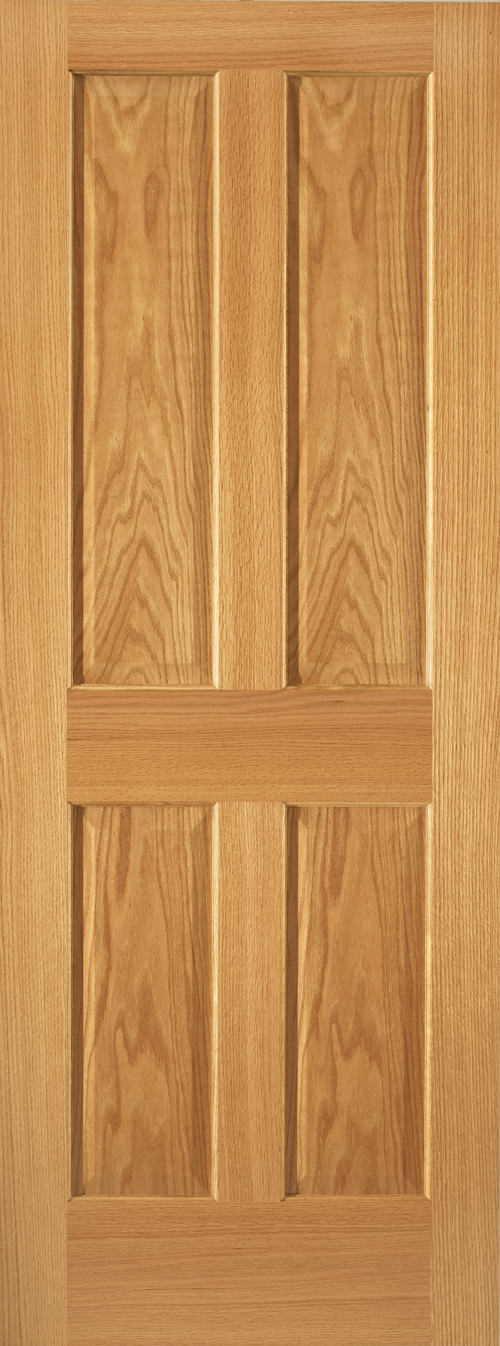 Red Oak 4 Panel Door