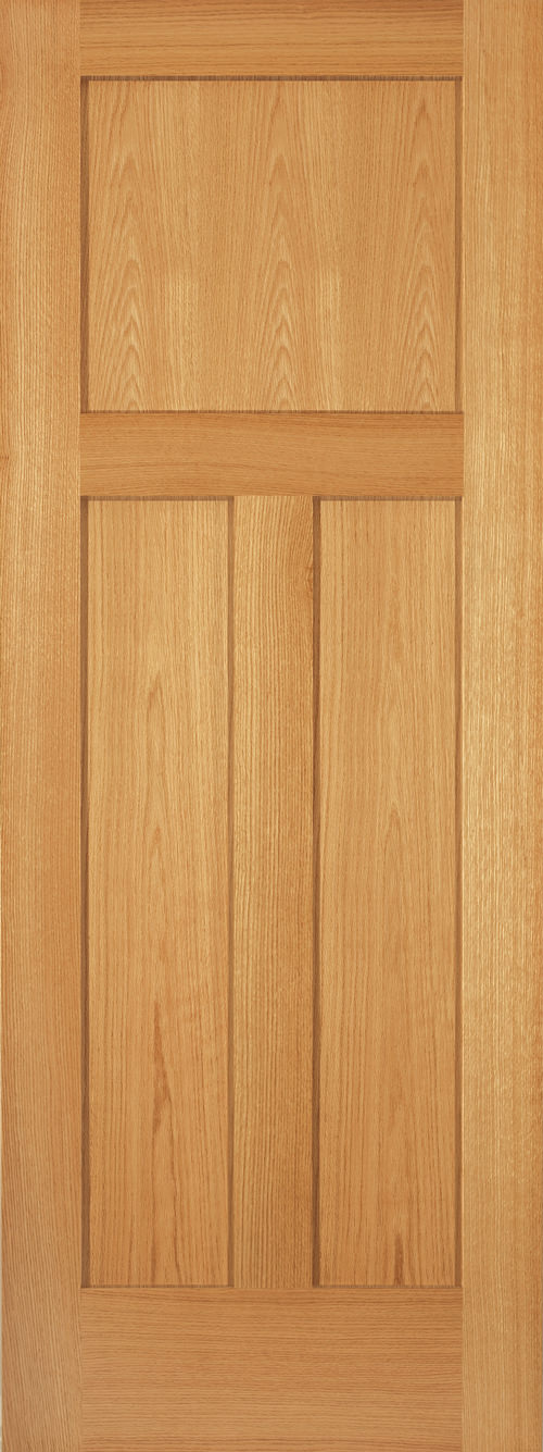 Red Oak 3 Panel Shaker Door