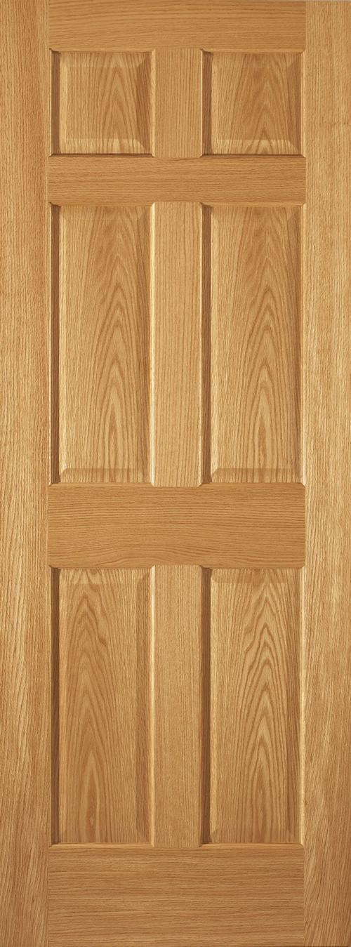Red Oak 6 Panel Door