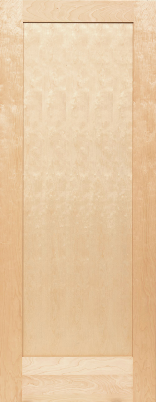 White Birch 1 Panel Shaker Door