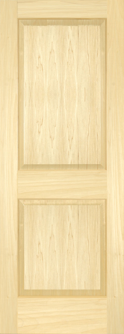 Yellow Poplar 2 Panel Square Door