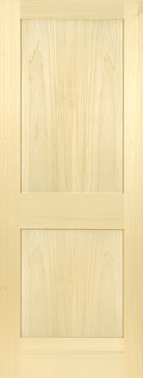 Yellow Poplar 2 Panel Shaker Door