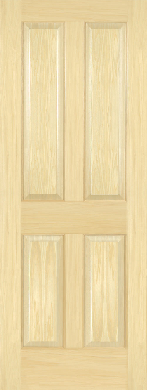 Yellow Poplar 4 Panel Door