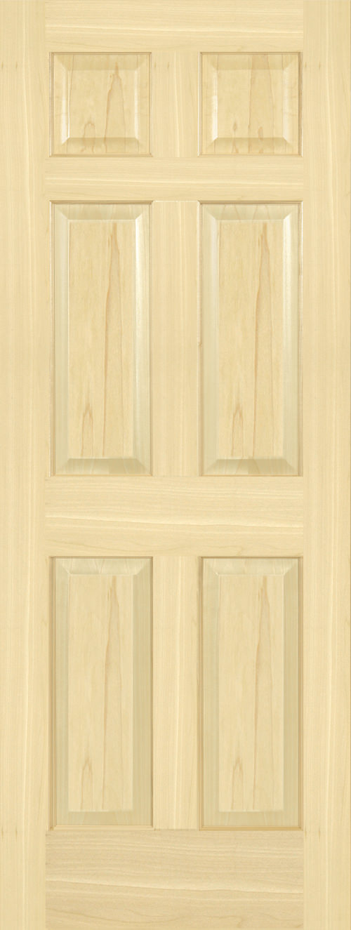 Yellow Poplar 6 Panel Door