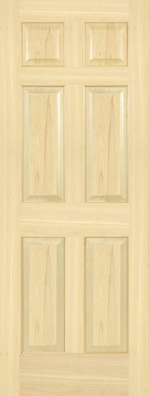 Yellow Poplar 6 Panel Door