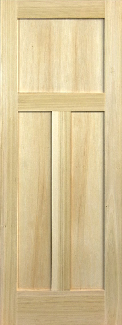 Yellow Poplar Stain Grade 3 Panel Shaker Door